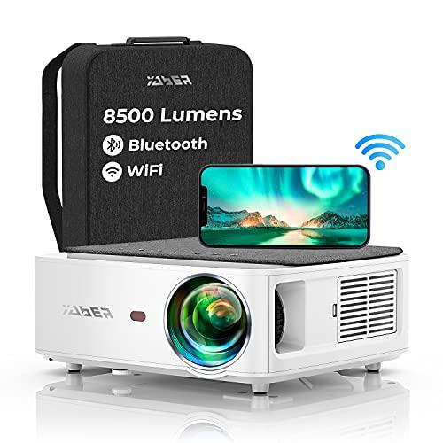 YABER WiFi Bluetooth 5G Beamer 8500 Lumen...