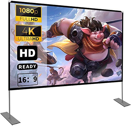 Projektion Leinwand mit Stand 100 Zoll HD 4K...