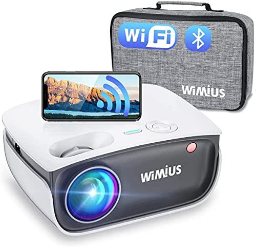 Mini Beamer, WiMiUS 7000 Lumen WiFi Bluetooth...